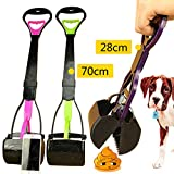 Portable Long Handle Dog Scoop Pooper Scooper Wate Jaw Outdoor Grass Cleaner Tool Random Color