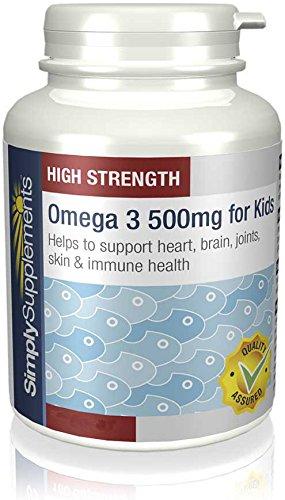 Omega 3 para Niños 500mg - 180 cápsulas - Hasta 6 meses de suministro - Para el corazón, el cerebro y la visión - SimplySupplements: Amazon.es: Salud y ...