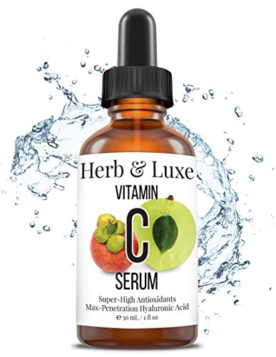 Vitamin C Serum, 100% Organic by Herb and Luxe Vitamin C fro