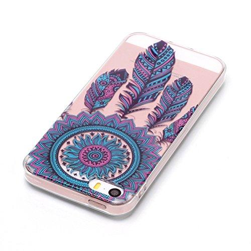 iPhone SE / 5 / 5S Hülle Blaue Campanula Premium Handy Tasche Schutz Transparent Schale Für Apple iPhone SE / 5 / 5S + Zwei Geschenk