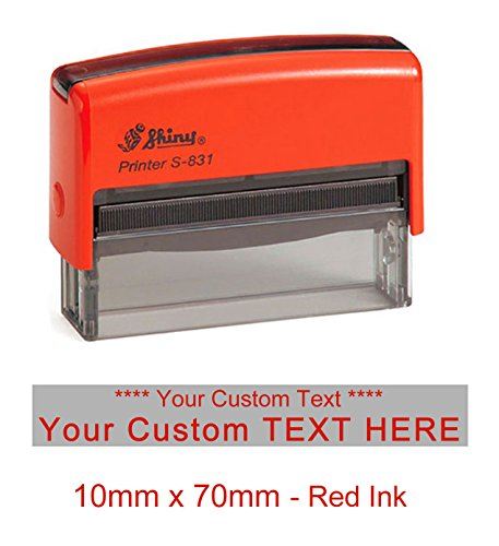 - Shiny S-831 Self Inking Long Rubber Stamper Custom Office Stationery Stamp 10mm x 70mm