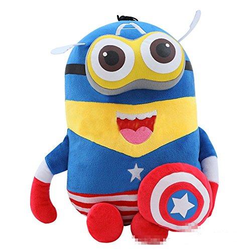 [20 CM, (Captain America) Mini Minions Cosplay Anime Plush Doll] (Gru Dog Costume)