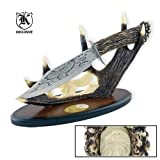 Custom Eagle Bowie Knife with Antler Display, Outdoor Stuffs