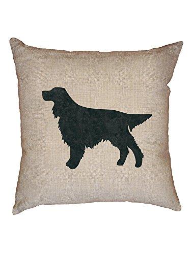 - Hollywood Thread Gordon Setter Dog Decorative Linen Throw Cushion Pillow Case with Insert