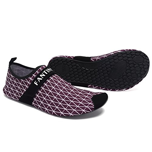 Beach Yoga Men Aqua Socks Pool Dry Exercise For and Surf Quick Water purple Shoes Women 01 CIOR Kids Lightweight BS7Agg