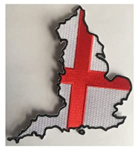 Iron or sew on England patch in the shape of a map of England