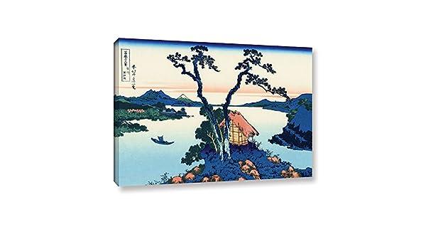 24 X 36 Artwall 4 Piece Katsushika Hokusais Dawn At Isawa In The Kai Province Gallery Wrapped Canvas Artwork Home Kitchen Posters Prints