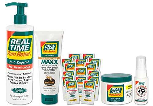 (Real Time Pain Relief Family Convenience Package, Pain Cream, MAXX Relief, Foot Cream, Pet Spray, 30 Travel Packets)