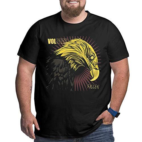 Big Size Men's T-Shirt XL-6XL Volbeat Fallen Men's Big & Tall Sizes Crew T-Shirt 4XL - Crew Fallen T-shirt