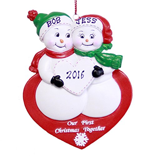 Personalized Our 1stChristmas Snowman Couple Ornament 2018 -Free Personalization
