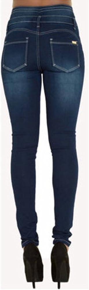 Dooxi Donna Casuale Skinny Matita Denim Pantaloni Moda Elastici Vita Alta Jeans