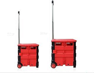 ZHANGZHI Transport léger Portable de magasinage Mobile de Voyage de Voyage Quik Nude Le Chariot Pliant à Deux Roues de Chariot de roulement Lourd, Pas de Couverture, Moyen, Grand