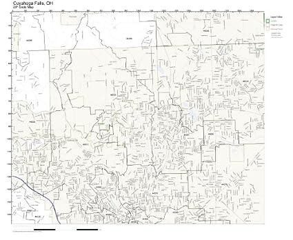Amazon.com: ZIP Code Wall Map of Cuyahoga Falls, OH ZIP Code Map