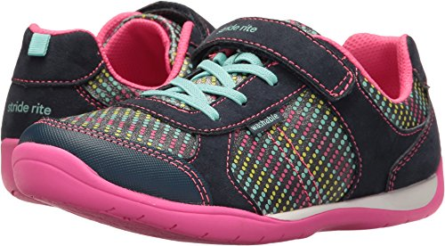 Stride Rite Girl's Made 2 Play Molly (Little Kid) Navy Multi 10.5 M US Little Kid