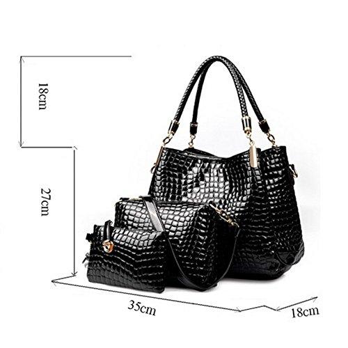 patrón de la vendimia de la mujer Xagoo del bolso de Crossbody PU los bolsos de cuero del nuevo diseño del bolso + Bolsa de viaje (Estilo 1) Estilo 3
