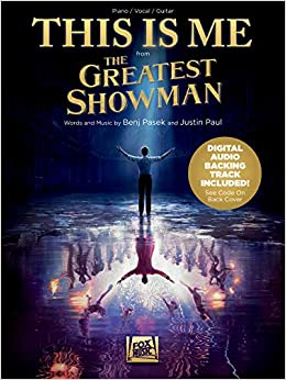 This Is Me - from The Greatest Showman - Piano/Vocal/Guitar Sheet Music  Single with Digital Audio Backing Track