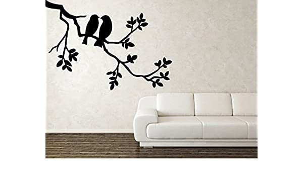 08b34ec84be Amazon.com  branch wall decal branch with birds wall sticker branch tree  wall vinyl bird decal tree decal ae574  Handmade