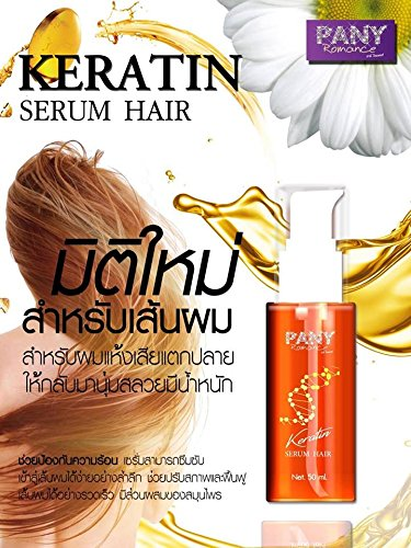 SASUAY KERATIN SERUM PANY ROMANCE PREVENT DRY AND DAMAGED HAIR NOURISH HEALTHY HAIR 50ML.[GET FREE BEAUTY GIFT FOR YOU] by SASUAY KERATIN SERUM