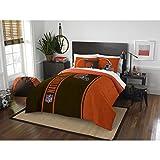 Cleveland Browns Comforter Set Bedding Shams NFL 3 Piece Full Size 1 Comforter 2 Shams Football Linen Applique Bedroom Decor Imported Sold byMBG.4u.