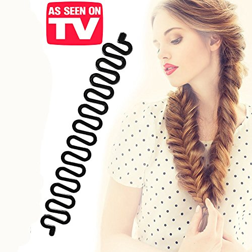 Price comparison product image KroO Fashion Hair Styling DIY Fishtail Braid Braiding Tool for Women - AS SEEN ON TV