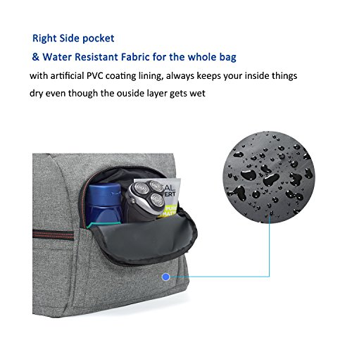 MarsBro Water Resistant Sports Gym Travel Weekender Duffel Bag with Shoe Compartment Grey by MarsBro (Image #5)