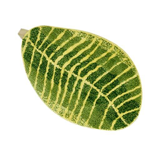 Alomoc Tropical Leaf Area Rug Mat Water-Absorbing Non-Slip Doormat (23.6 x 15.7 Inch)