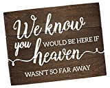 Cheap Elegant Signs Remembrance Sign Memorial We know You would be here Today (11 inch x 14 inch)