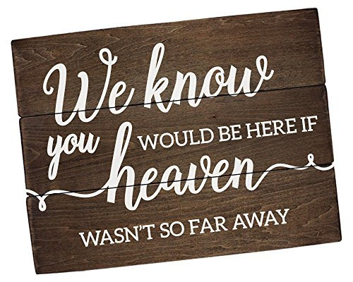 Elegant Signs Remembrance Sign Memorial We Know You Would be here Today (11 inch x 14 inch) -