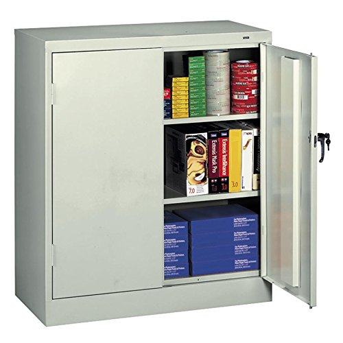 Tennsco Counter-High Storage Cabinet - 36quot; x 18quot; x 42quot; - Security Lock - Light Gray by Tennsco