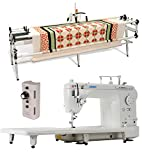 Juki TL-2000Qi 9'' Long Arm Quilting Machine, inspira New & Improved GQ 10' Quilting Frame and Grace Single Prong Speed Control