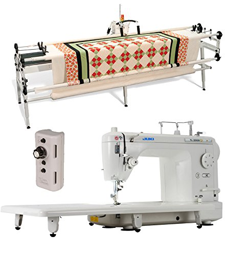 Juki TL-2000Qi 9'' Long Arm Quilting Machine, inspira New & Improved GQ 10' Quilting Frame and Grace Single Prong Speed Control by JUKI