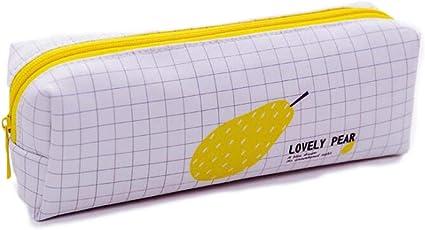 Bolsa Estuche para Lápices Patrón de frutas Creativa de Gran Capacidad con Cremallera Encantador Bolso de Lápices Almacenamiento para Bolígrafos Plumas para Chicos, Fruta pera: Amazon.es: Oficina y papelería