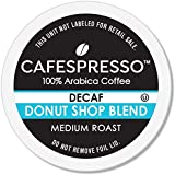 CAFESPRESSO Decaf Donut Shop Blend for K Cup Keurig 2.0 Brewers, 80Count, Medium Roast Single Serve Coffee Pods, 80Count (Pac