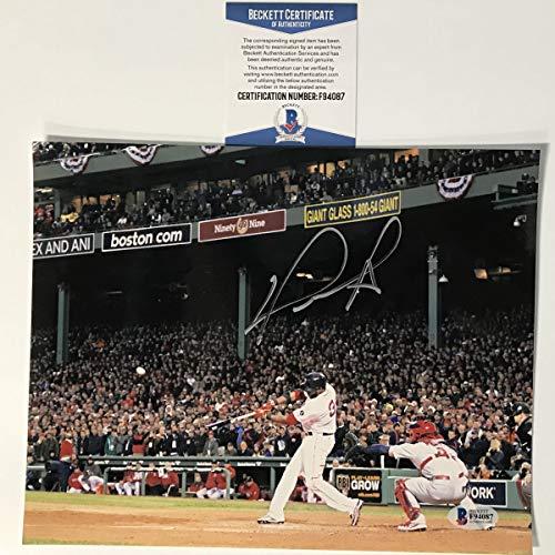 Autographed/Signed David Ortiz Boston Red Sox 8x10 Baseball Photo Beckett BAS COA #2