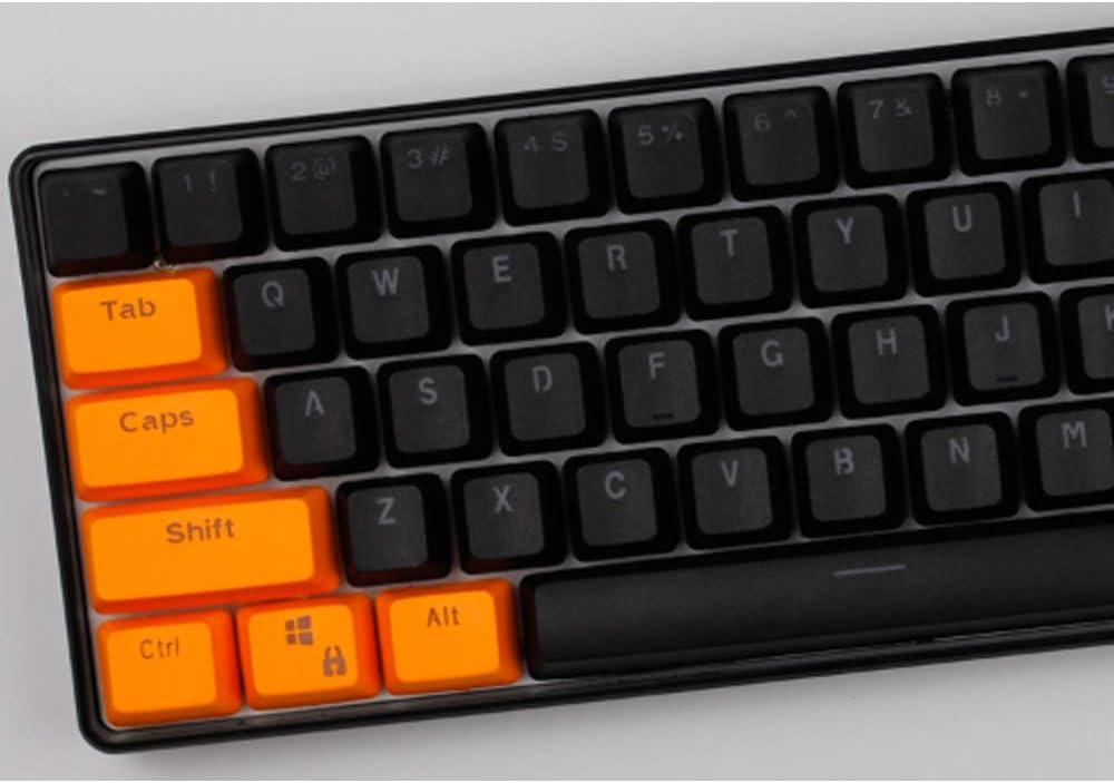 Six6 OEM Perfil De Naranja Negro PBT 87/104 Claves Keycaps ...