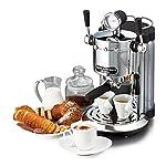 Ariete-138720-Caff-Novecento-Macchina-per-Caff-Espresso-Cappuccinatore-Vano-Scalda-Tazze-1100-W-2-Tazze-15-Bar-Cromo-ArgentoNero