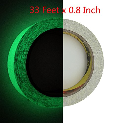 Luminous Tape - 33 ft x 0.8 inch - Glow in the Dark Tape