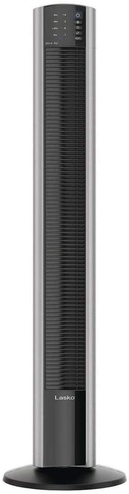 Lasko XtraAir 48 Inch Standing Tower Home Fan Air Ionizer with Remote Control