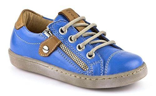 Froddo Sneaker Reißerschluss Leder azurblau braun Wechselfußbett