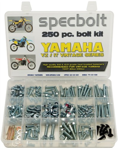 250pc Specbolt Yamaha vintage YZ IT Bolt Kit 125 175 200 250 400 425 465 490 500 Maintenance Restoration YZ125 IT175 IT200 YZ250 IT250 MX360 YZ400 IT400 IT425 YZ465 IT465 YZ490 IT490 WR500 MX DT GT WR