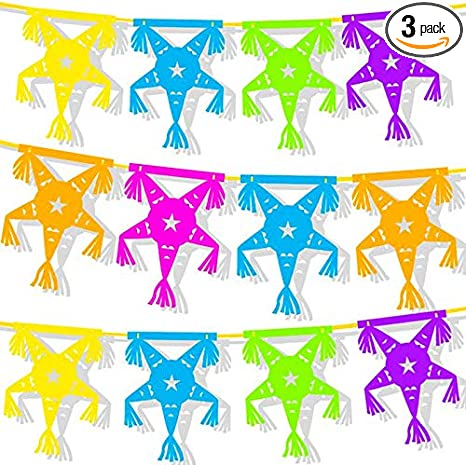 Paper Bunting G3 Fiesta Garland Birthday Party Decoration Paper Garland 10 ft Mexican Holiday Garland Fiesta Colors