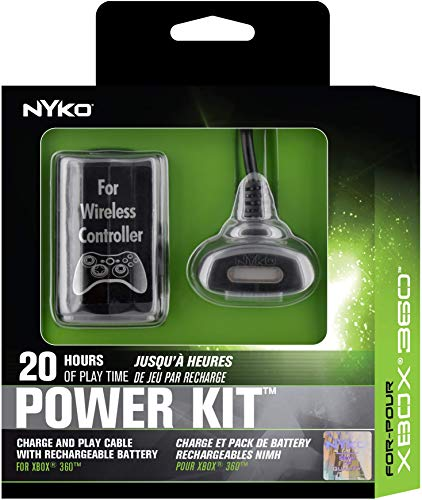 (Nyko Power Kit - Rechargeable Battery with Charge Cable for Xbox 360 )