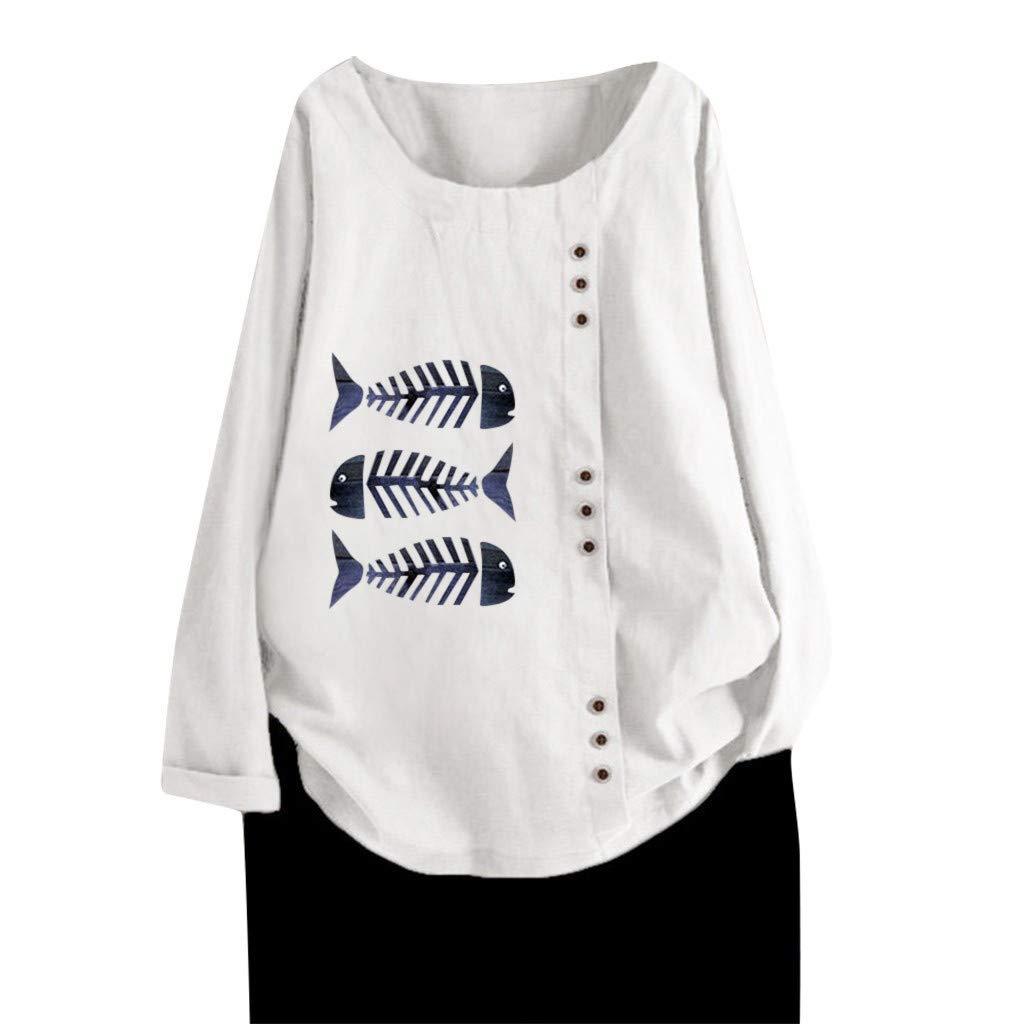 Camisetas Túnicas de algodón y Lino con Botones Mujer Originales ...