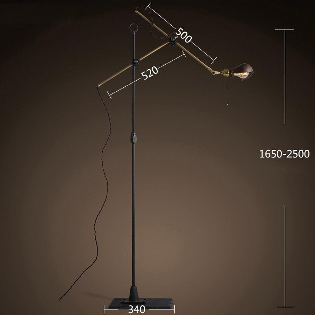 Amerikanische ländliche Industrie Loft retro kreative Schlafzimmer Wohnzimmer Schlafzimmer Nachtfischen Lampe Metall lang - Arm Stehlampe ( farbe : B )