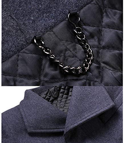 Elegante Giacche Slim Lungo 07 Abbigliamento Affari Trench Da Giacca Manica Di Di Grau Uomo Vento Parka Fit Cappotto A Huixin A Lana Della OF0wBrtqxF