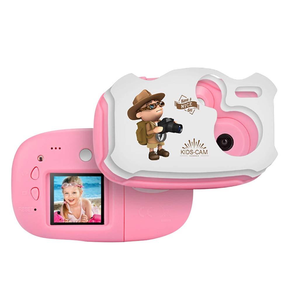 Sdoveb Children Sport Camera 1.7 Inch Portable Kids Camera Video Recorder DV DVR Cam Camcorder Camera (Pink)