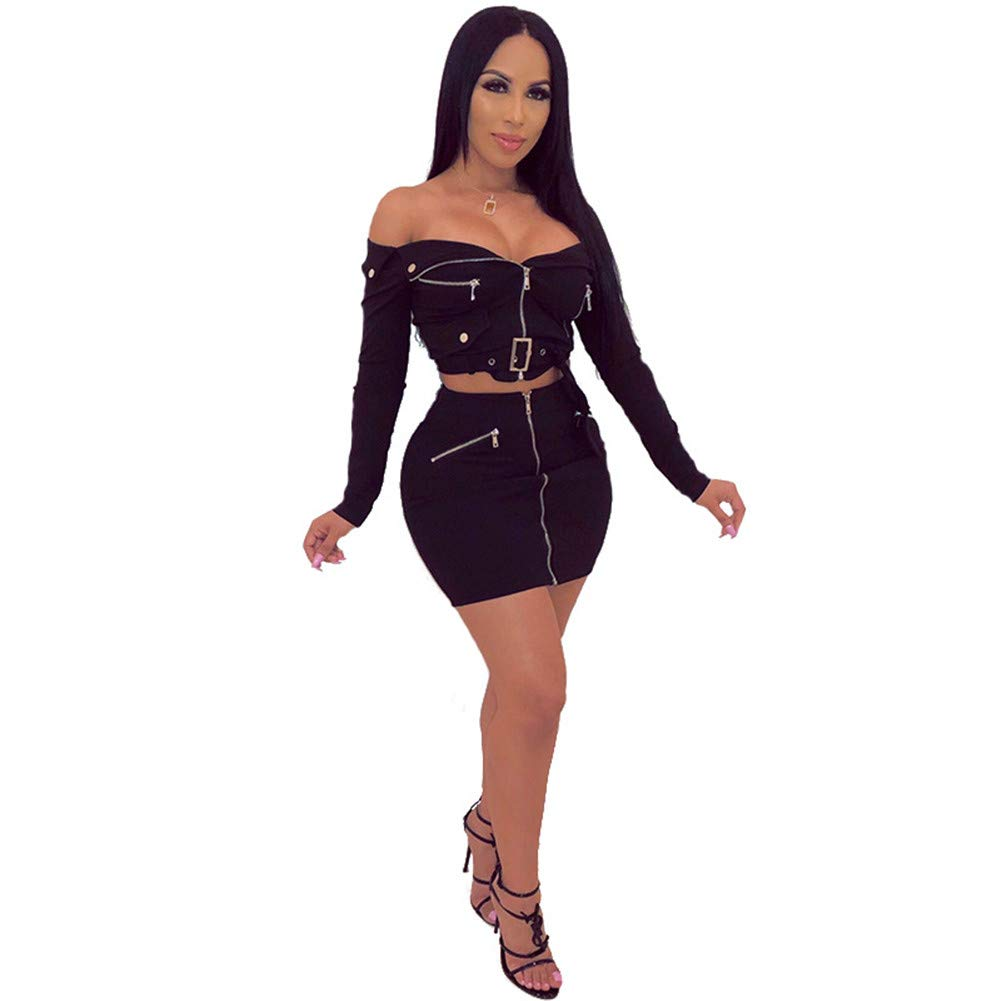 Womens Sexy Bodycon Party Evening Dresses Elegant Deep V Neck Sleeveless Bodycon OnePiece Collar TwoPiece Suit Skirt,M