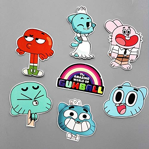14Pcs/Set Funny Anime The Amazing World of Gumball Sticker for Car Laptop Backpack Motorcycle Phone Decal Kids Toy Sticker