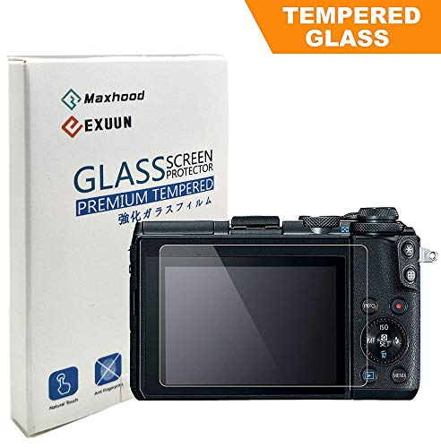 Poyiccot Canon EOS M6 / EOS M100 Tempered Glass Screen Protector, Optical 9H Hardness 0.3mm Ultra-Thin DSLR Camera Tempered Glass for Canon EOS M6, EOS M100 (1 Pack)