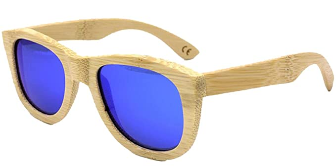 BOZEVON Gafas de sol de Madera de Bambú Polarizadas de la ...